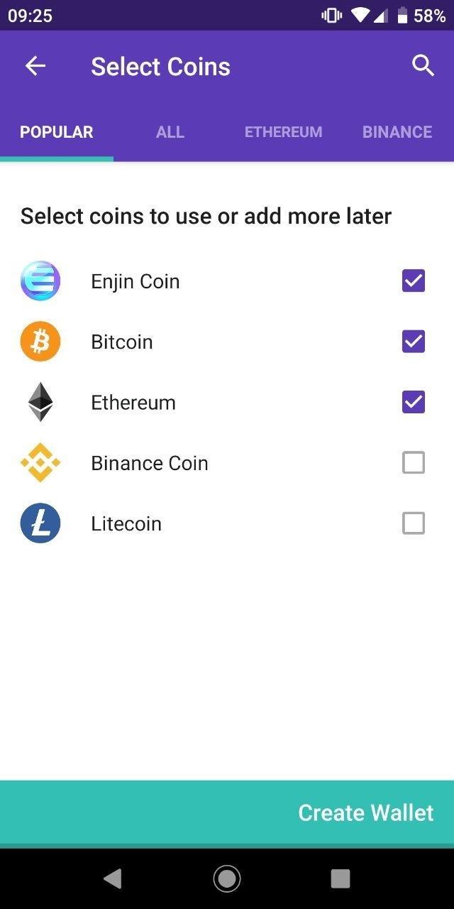 Enjin Select Coins
